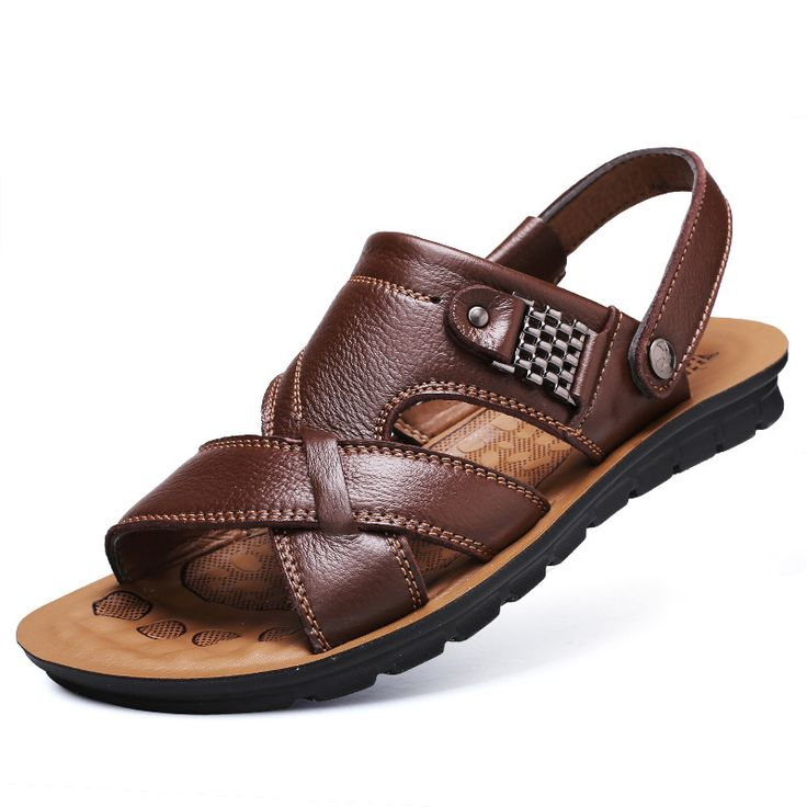 >> Click to Buy << Men's Sandals Summer Beach Casual Sandales Men Roman Sandalen Genuine Leather Shoes Sandalias De Hombre Male Sandale #Affiliate