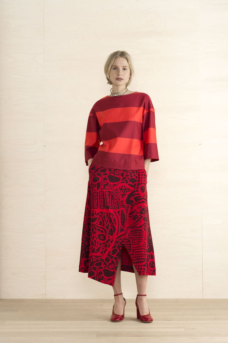 The Marimekko Orla Top with Musca skirt is a perfect combination for the holidays. http://ss1.us/a/fmmcbT2y #kiitoslife #kiitoslifenyc #marimekko #orlatop