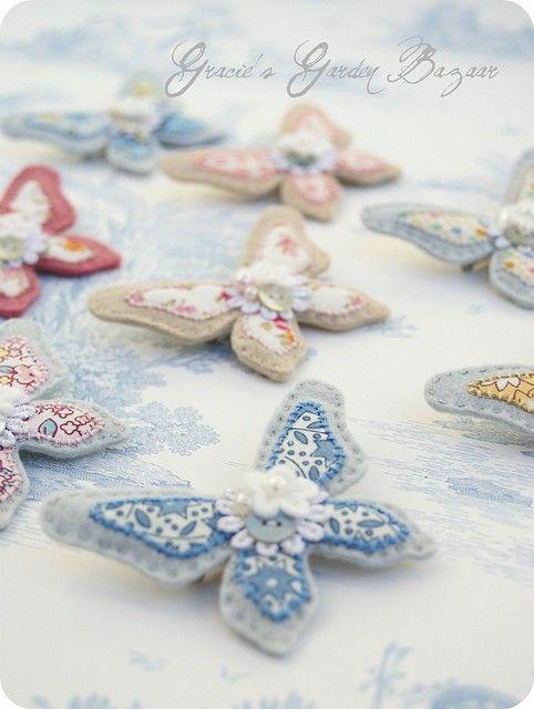 Pin by Gözde Özer Şen on Felt keçe | Pinterest | Felt crafts, Felt and Butterfly