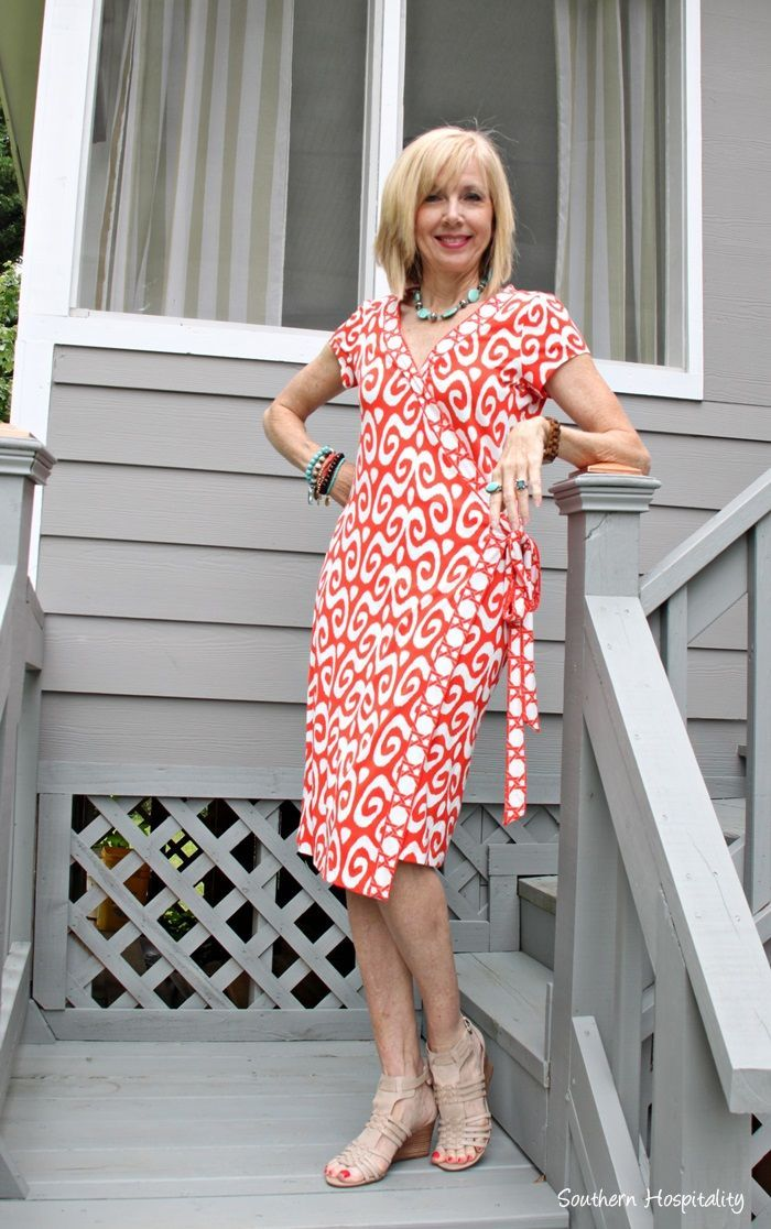 Fashion over 50, the wrap dress. Have you tried one lately? #fashionover50