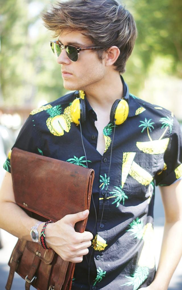 pineapple. #men #styleMen Clothing, Bi Adam, Men Accessories, Men Style, Pineapple Shirts, Ombre Pineapple, Guys Hair, Men Outfit, Adam Gallagher
