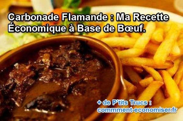 La carbonade flamande est un peu le bœuf bourguignon des Belges. Longuement mijotés dans la bière, les morceaux de viande sont fondants… Délicieux, la raison de sa popularité en Belgique est aussi liée à son prix très abordable.  Découvrez l'astuce ici : http://www.comment-economiser.fr/carbonade-flamande.html?utm_content=buffere6eab&utm_medium=social&utm_source=pinterest.com&utm_campaign=buffer