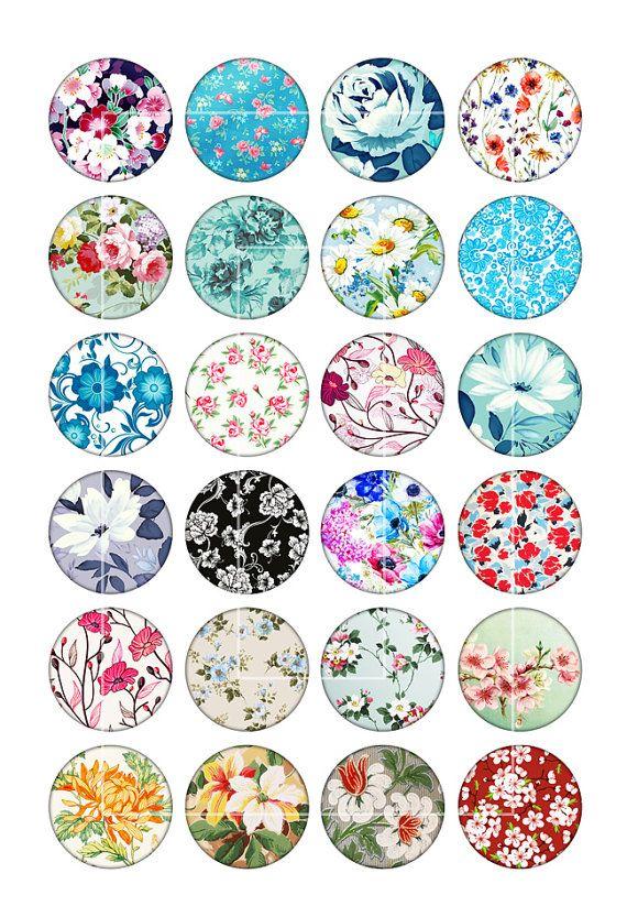 Descargar para imprimir Imágenes de círculo de flores primavera para pendientes de cabujón Lo que recibirás: * 1 hoja para imprimir con imágenes de círculo de 10 mm * 1 hoja para imprimir con imágenes de círculo de 12 mm * 1 hoja para imprimir con imágenes de círculo de 14 mm * 1
