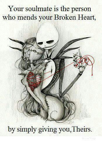Jack & Sally ♥ | cute-tattoo. Beautiful Tattoo Ideas...   ::)