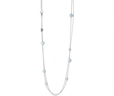 Georg Jensen Sphere Silver And Aquamarine Sautoir Necklace 3532903 At Berry's Jewellers £395