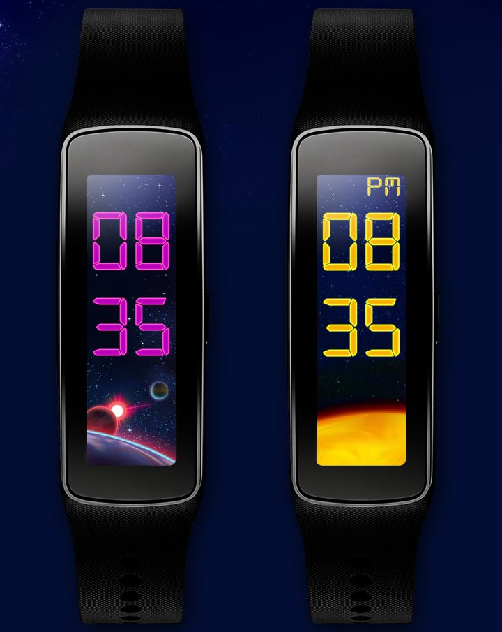 Astro Clock For Gear Fit 4 Beatiful Space Themes And Wall Papers