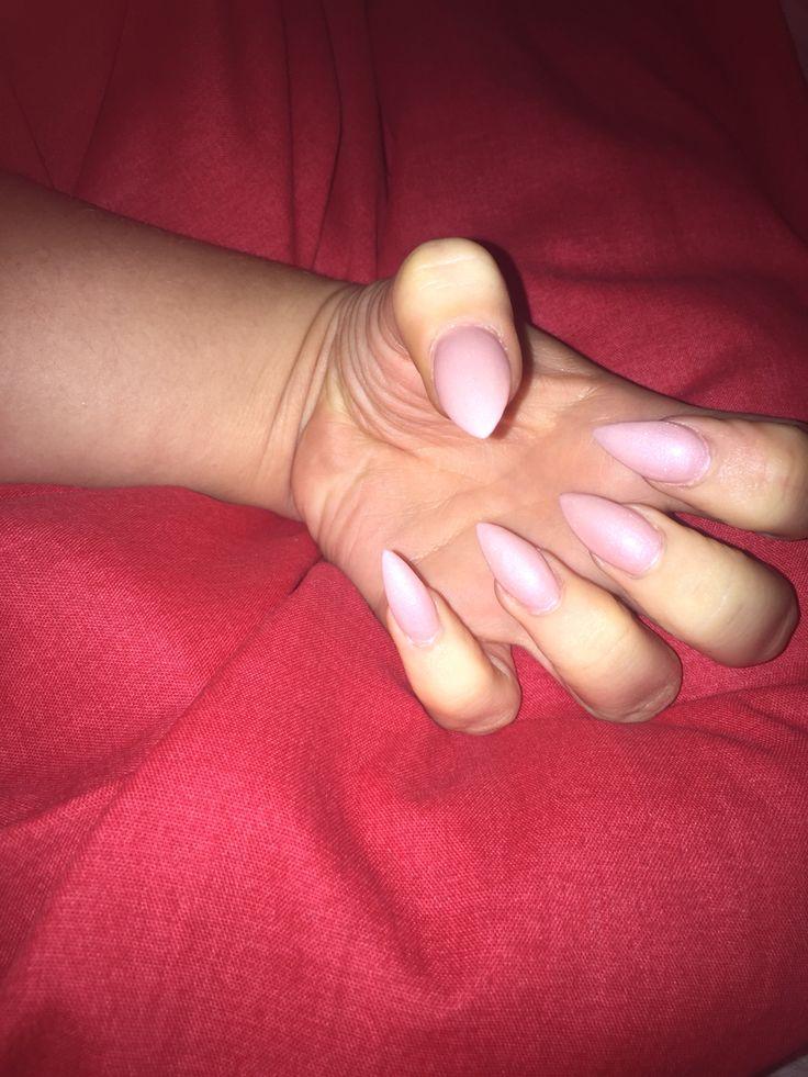 Girlie nails.