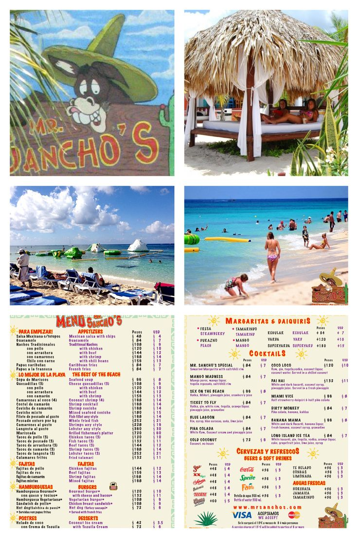 Mr Sanchos Beach just a short 5 minute taxi ride $16 for 4 persons