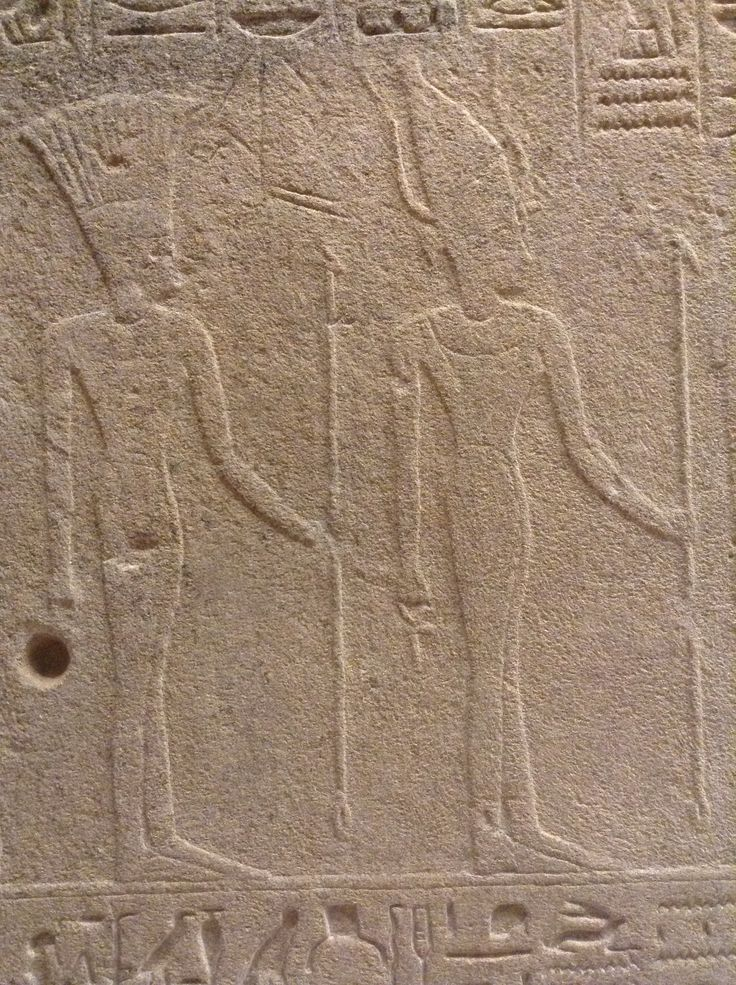 Egyptian deities, likely from the 1st Intermediate Period, under the reign of the semitic Hyksos. The headresses have elements of goddesses from the Levant: Phoenician and  Canaanite. I wish the pic showed their cartouches.