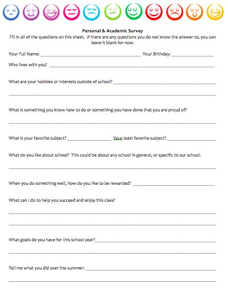 Best 25+ Student survey ideas on Pinterest Student interest - travel survey template