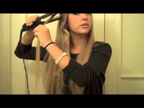 How to curl your hair with a straightener! Love it! I can't believe how easy this is and the curl stays in all day without any products!