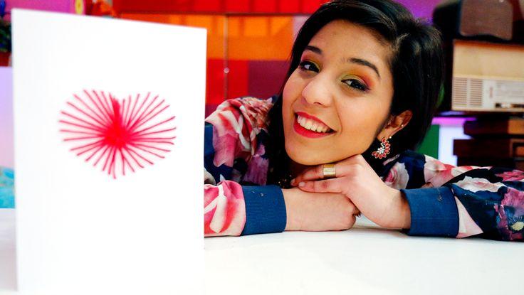 Met dit leuke kaartje verover je vast het hart van je Valentijn. Volg de eenvoudige stappen van Sarah om er zelf één te maken.