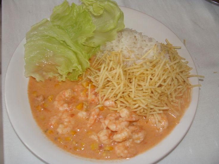Receita de Estrogonofe de camarão prático