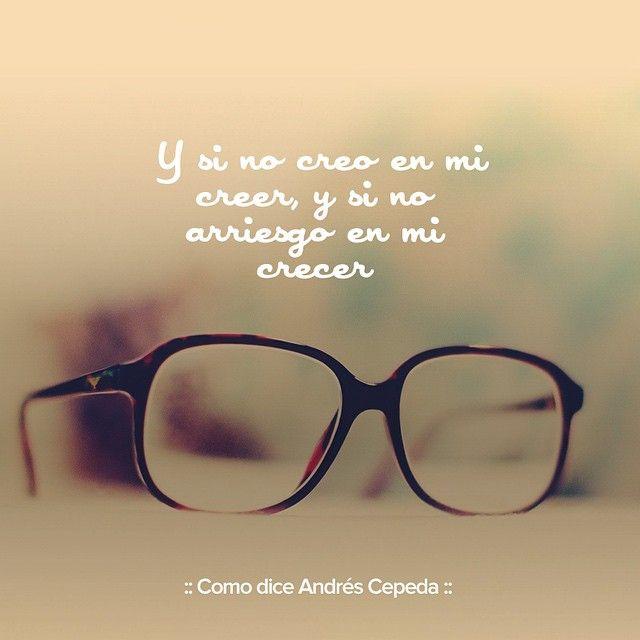 """Este mensaje fue compartido vía Andrés Cepeda """"Simplemente fijate en que haces y dices"""""""