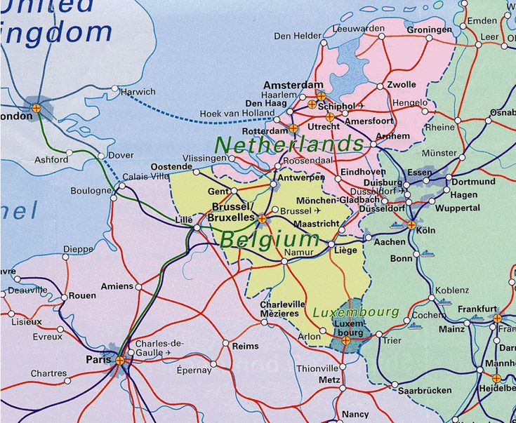 map of netherlands and belgium benelux railway mapbelgium the netherlands and luxemburg rail map world to see pinterest belgium holland and