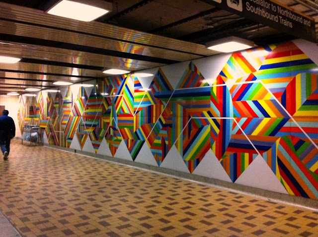 St Clair West Subway Station #mural #art #colourful
