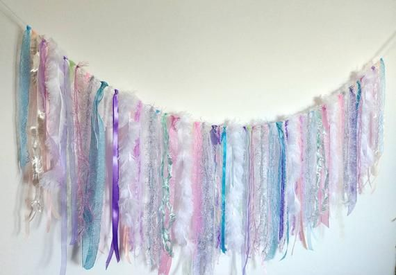 Unicorn Sparkly Glitter Bunting Pink Purple or Silver Unicorn Party Bunting