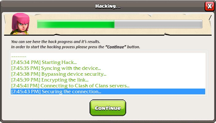 Activation code for clash of clans hack 2014