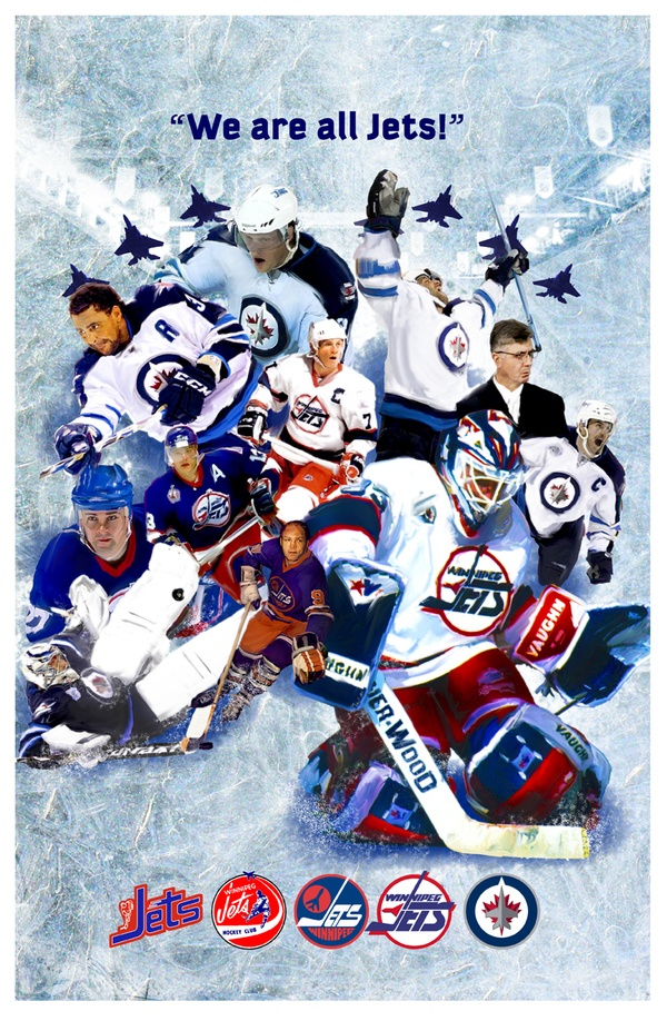 Winnipeg Jets Poster by Derek Labossiere. www.labossdesign.com