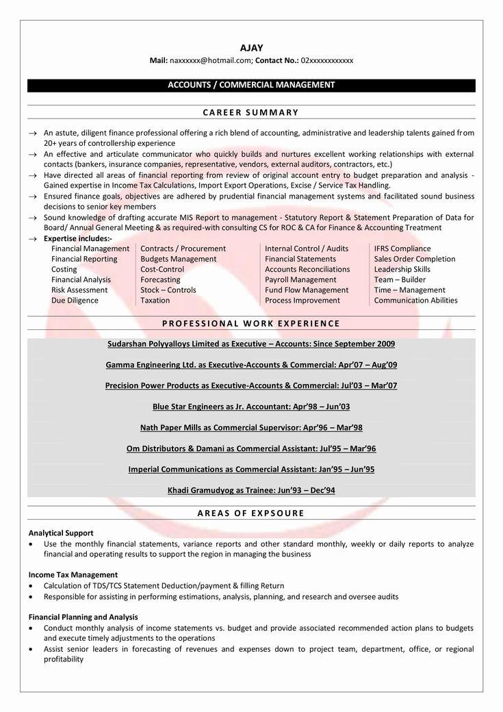 Senior accountant resume sample elegant senior accountant