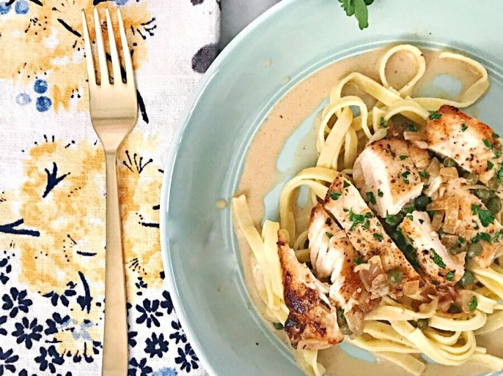 The best, extra creamy chicken piccata recipe! This is ready in 20 minutes and is the last chicken piccata recipe you will ever need.