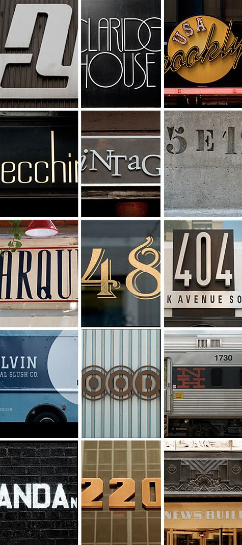NYC Type is a collection of photographs taken by the website's author while walking around the wonderfully colorful streets of New York.: Colorful Streets, Nyc Type, Art Design Inspiration, Graphics Art Paint, Nyctype, Wonderfully Colorful, Typography Lettering Signage, Website S Author