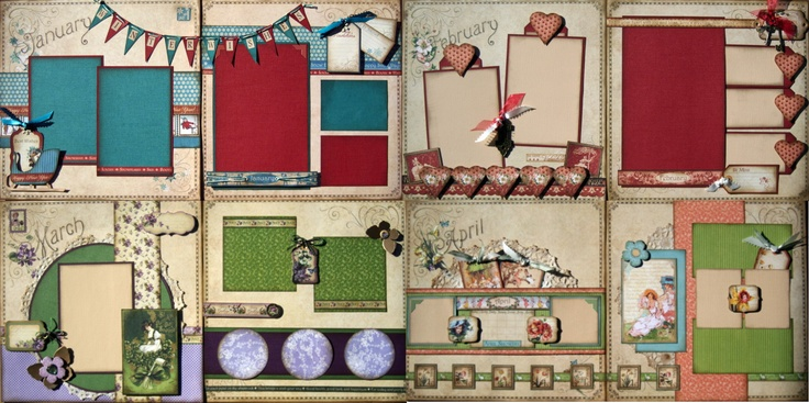 Graphic 45 Place In Time January -April, 2013 Layout Set .:. Scraptique, Inc.
