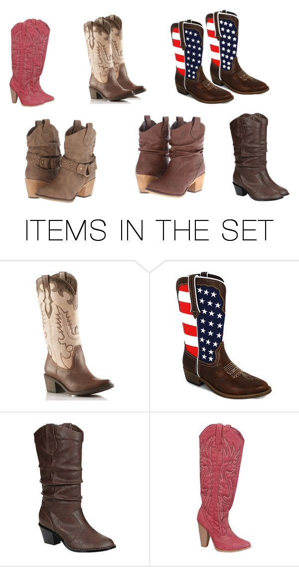 """""""Cute yet Cheap Western Boots"""" by maddiemae121999 on Polyvore featuring art"""