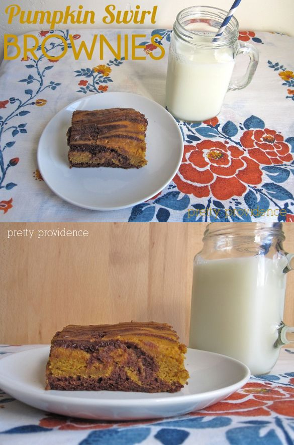 These pumpkin swirl brownies are UNREAL. You will not regret making these!