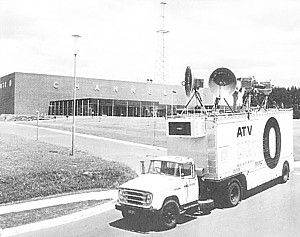 The studios of ATV Channel 0, Melbourne's third commercial TV channel, on Springvale Road, Nunawading, 1960s