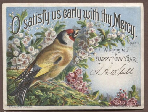 c6104 good victorian sundsy school union new year card bird scripture religious postcards pinterest bible verses victorian and bible
