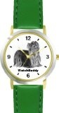 Reviews Yorkshire Terrier (SC) Dog - WATCHBUDDY® CLASSIC DELUXE TWO-TONE THEME WATCH - Arabic Numbers-Green Leather Strap-Children's  Large selection at low prices - http://greatcompareshop.com/reviews-yorkshire-terrier-sc-dog-watchbuddy-classic-deluxe-two-tone-theme-watch-arabic-numbers-green-leather-strap-childrens-large-selection-at-low-prices