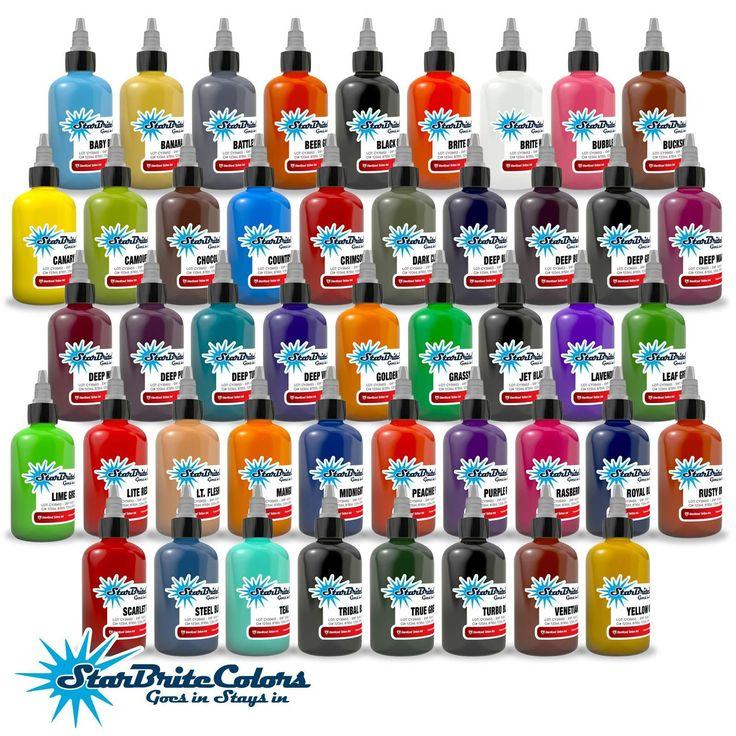 StarBrite Tattoo Ink - 46 Color Set 1