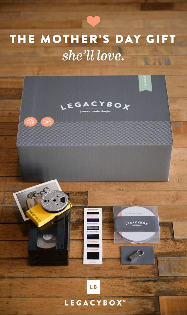 """This is truly spectacular. Legacybox is an amazing service...This is something that will be cherished and passed down. Give the Legacybox with a Kleenex box for best results."" - The Huffington Post"