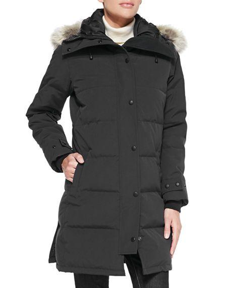 CANADA GOOSE Shelburne Hooded Parka, Black. #canadagoose #cloth #