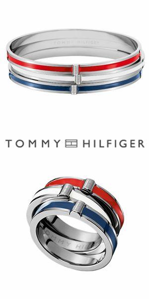 A identidade da Tommy Hilfiger traduzida em escravas e anéis. Estilo, qualidade e elegância.