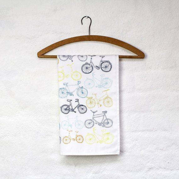 Take the Bike tea towelTeas Towels, Hogarth Design, Tea Towels, Jessica Hogarth, Towels Design, Bikes Teas, Interesting Design, Illustration Teas, Fun Prints