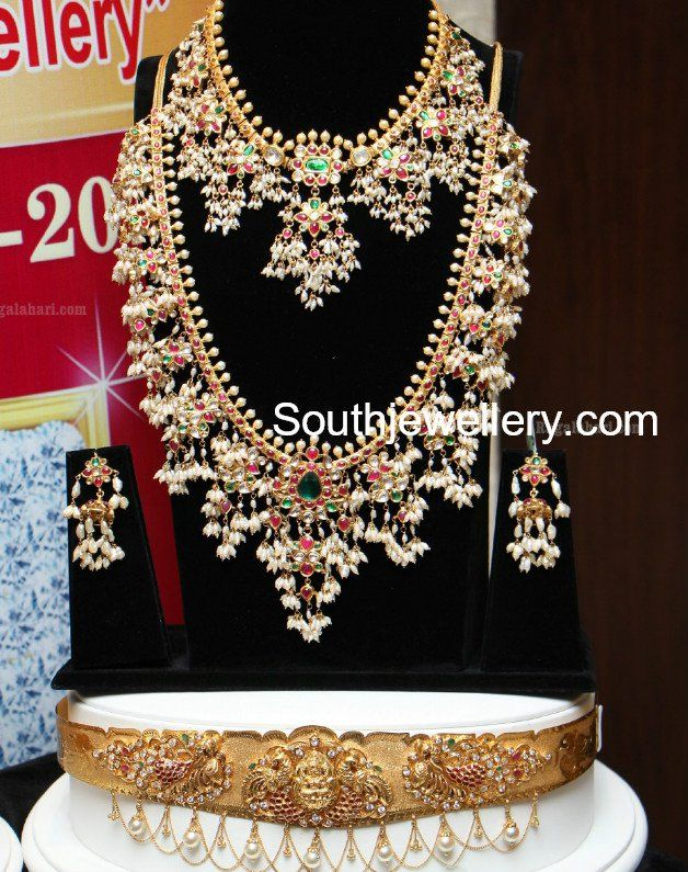 Guttapusalu Necklace and Haram Set