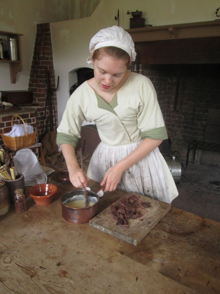 Making chocolate the 18th century way at the tryon palace - Early american cuisine ...