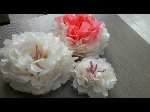 Craftfull - Χάρτινα λουλούδια για διακόσμηση - YouTube