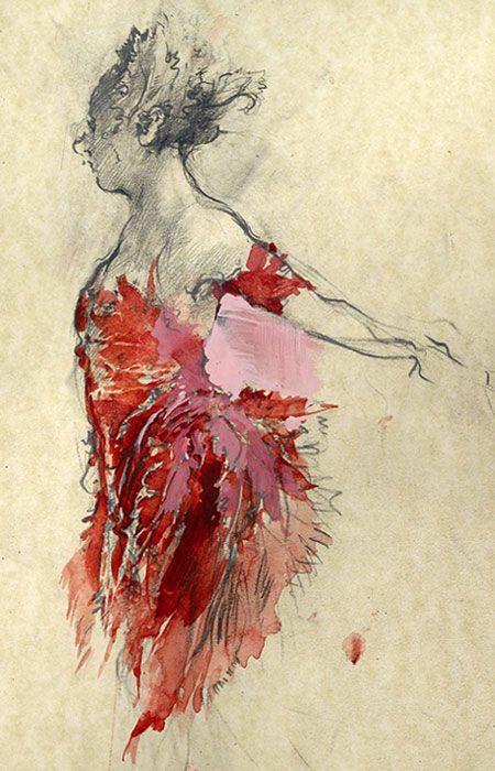 costume rendering : John MacFarlane for Birmingham Royal Ballet. 2010