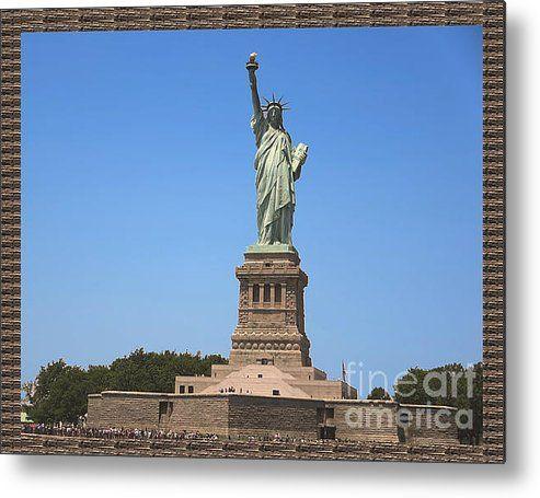 Statue Of Liberty New York America July 2015 Photo By Navinjoshi At Fineartamerica.com  Island Landm Metal Print By Navin Joshi