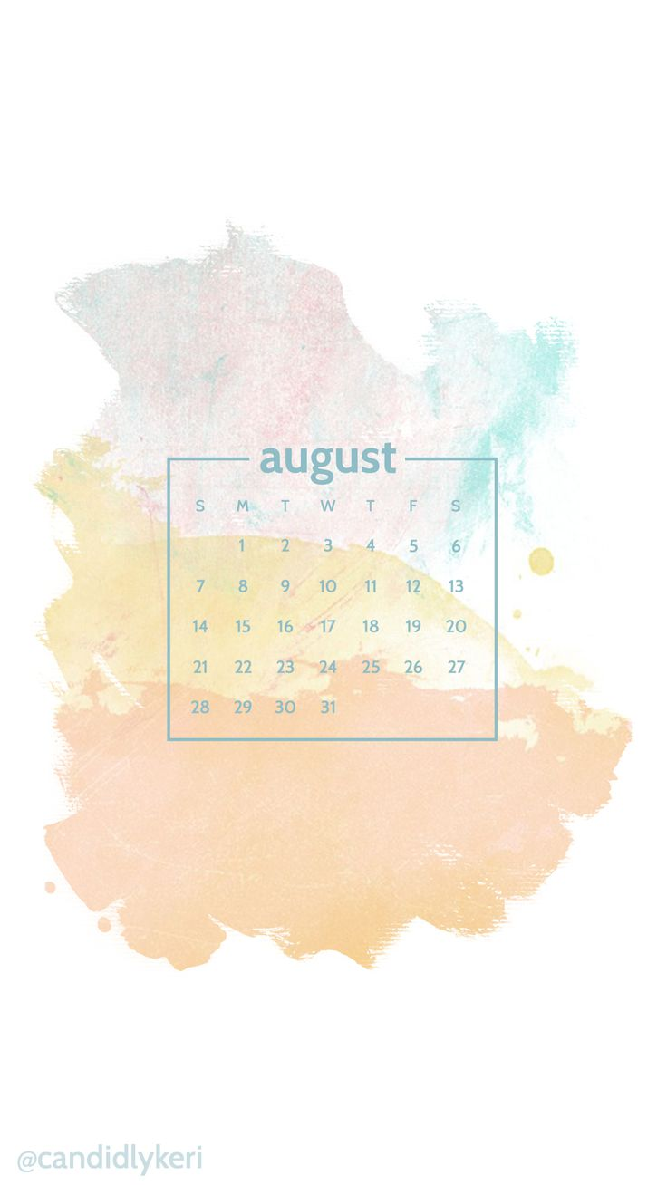 Muti Colored watercolor orange blue yellow background August calendar 2016 wallpaper you can download for free on the blog! For any device; mobile, desktop, iphone, android!