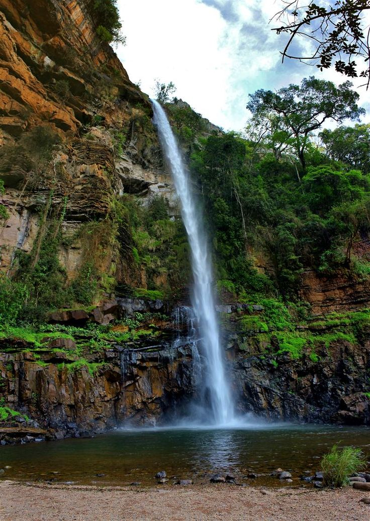 SOUTH AFRICA THE BEAUTIFUL ::  Panorama Waterfalls ::   The Lone Creek Falls (South of Graskop) - A short (200m) walk through an indigenous forest takes you to the bottom of the falls. The 35 metres (115 ft) high waterfall is a declared National Monument and is one of the well-known landmarks in the Sabie area.