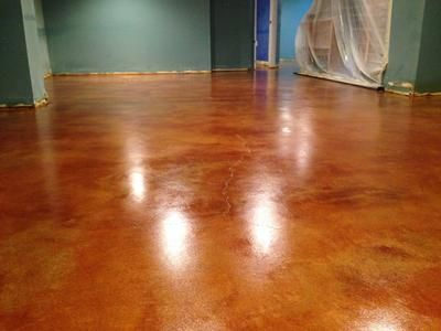 Stained Concrete Floors Bedroom