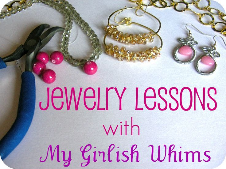 My Girlish Whims: Jewelry Lessons: How to Create a Simple Loop and DIY Wedding Earrings
