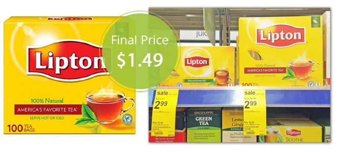 Lipton Tea Bags, Only $1.49 at Walgreens! Week 11/16.