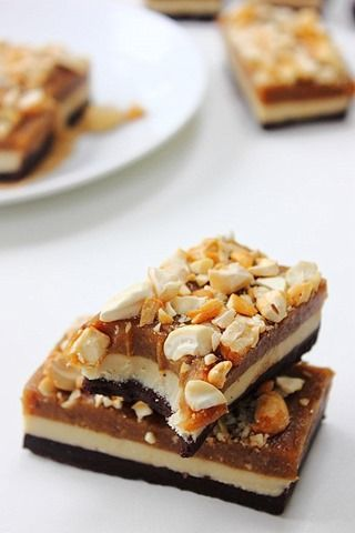 Raw Snickers Layer Bars (24)