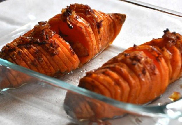 Hasselback Honey Sweet Potatoes - Real Recipes from Mums