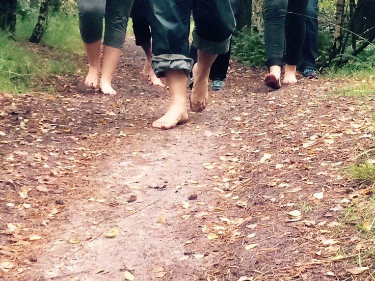 blote voeten wandelingen in Nederland en Belgie
